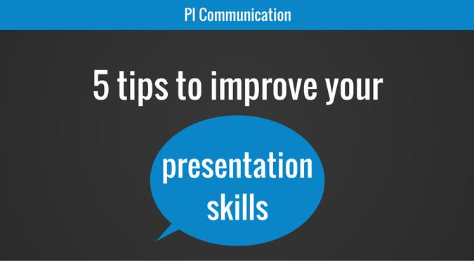 5 tips to improve your presentation skills